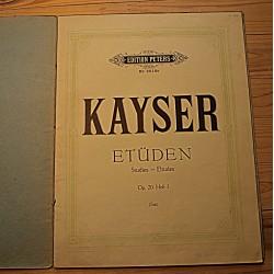 Noodid:H.E.Kayser, 36 etüüdi