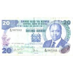 Keenia:20 Shillingit 1986,...