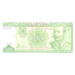 Kuuba 5 peesot 2006, UNC