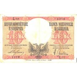 Albaania 10 lek 1940, VF