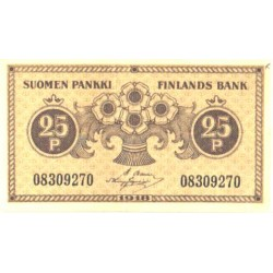 Soome 25 penni 1918, VF-XF