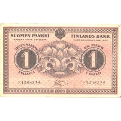 Soome 1 mark 1916, VF+