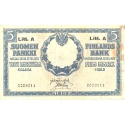 Soome 5 marka 1909, Litt....