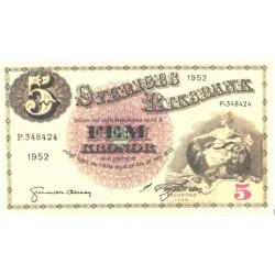 Rootsi 5 krooni 1952, UNC