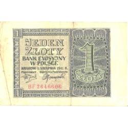 Poola 1 zloty 1941, VF