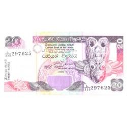 Sri Lanka 20 ruupiat 2005, UNC