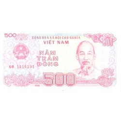 Viet Nam 500 dongi 1988, UNC