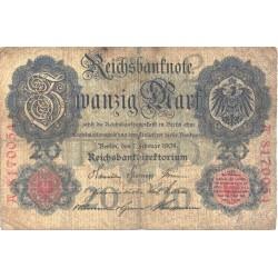 Saksamaa:20 marka 7.2.1908, VF