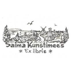 Saima Kunstimees ex libris