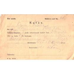 Kohtukutse, rahukohtunik, 1925
