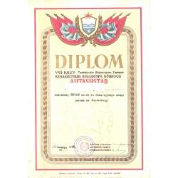 Diplom, VSÜ Kalev Tallinna...