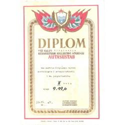 Diplom, VSÜ Kalev...