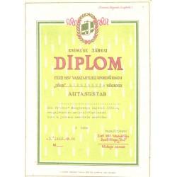 Diplom, I järgu, Eesti NSV...