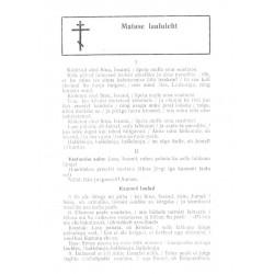 Matuse laululeht aastast 1987