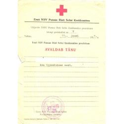 Eesti NSV Punase Risti...