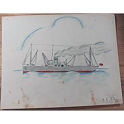 Suurem kaubalaev merel,...
