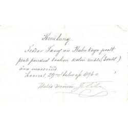 Trahvi maksmise kviitung 1896