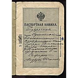 Tsaari Aegne pass ilmselt 1915