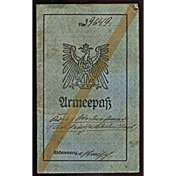 Eesti:Saksa:Armeepass, 1918