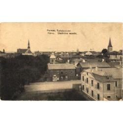Pärnu:Üldvaade kirikutega,...