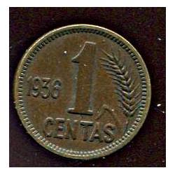 Leedu 1 centas 1936, 1...