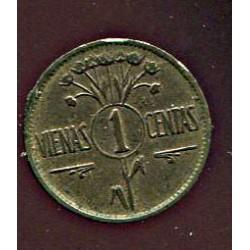 Leedu 1 vienas centas 1925,...
