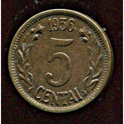 Leedu 5 centai 1936, 5...
