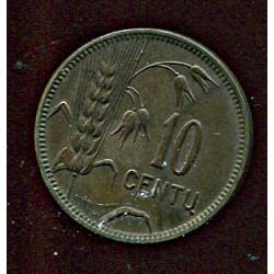 Leedu 10 centu 1925, 10...