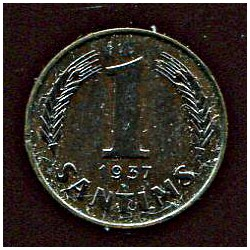 Läti 1 santims 1937, 1...