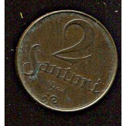 Läti 2 santimi 1922, 2...