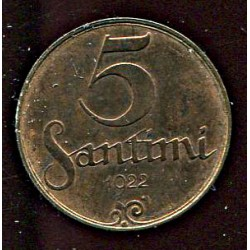 Läti 5 santimi 1922, 5...