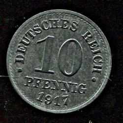 Saksamaa:10 pfennig 1917,...
