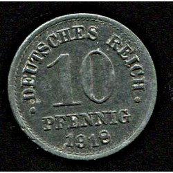 Saksamaa:10 pfennig 1918, VF