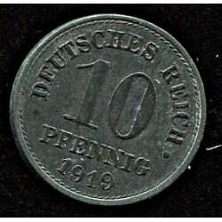 Saksamaa:10 pfennig 1919, VF