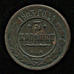 Tsaari Vene 3 kopikat 1903...