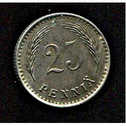 Soome 25 penniä 1921, VF