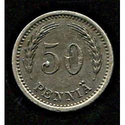 Soome 50 penniä 1937, VF