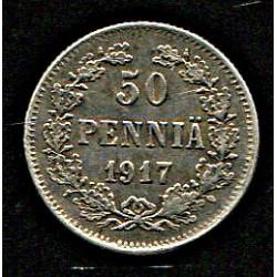 Soome 50 penniä 1917, VF++
