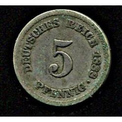 Saksamaa 5 pfennig 1888,...