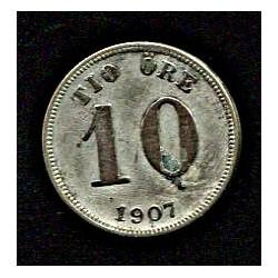 Rootsi 10 ööri 1907, VF,...