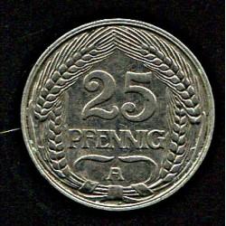 Saksamaa 25 pfennig 1909,...