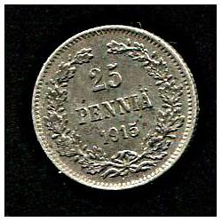Soome 25 penni 1915, 25...