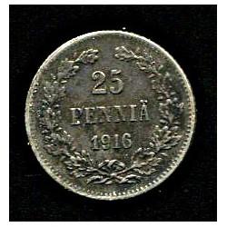 Soome 25 penni 1916, 25...