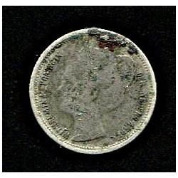 Holland:10 senti 1898, VF-,...