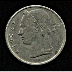 Belgia:5 franki 1963, VF