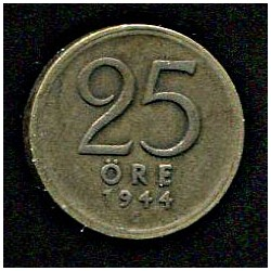 Rootsi 25 ööri 1944, VF,...