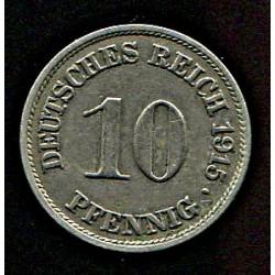 Saksamaa 10 pfennig 1915,...