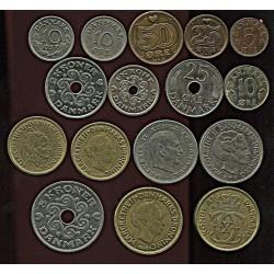 Taani müntide komplekt:5,...