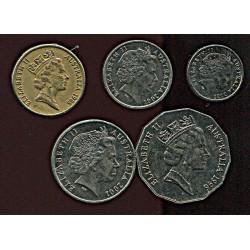 Austraalia mündikomplekt:5,...