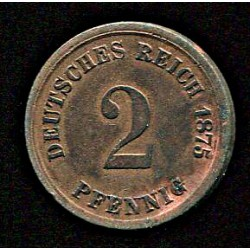 Saksamaa 1 pfennig 1875,...